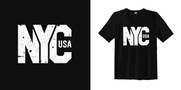 T-shirt new york city of usa in stile urbano