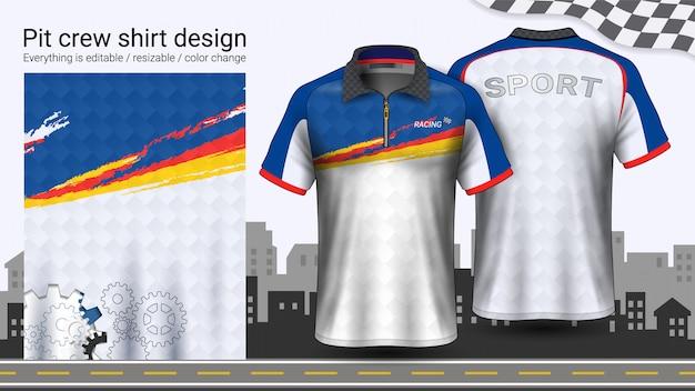 T-shirt polo con cerniera