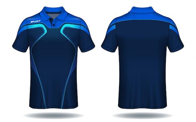 T-shirt polo design, modello jersey sportivo.