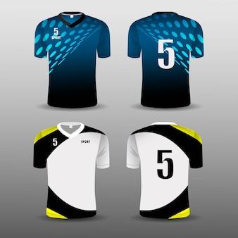T-shirt sportiva da calcio club set design.