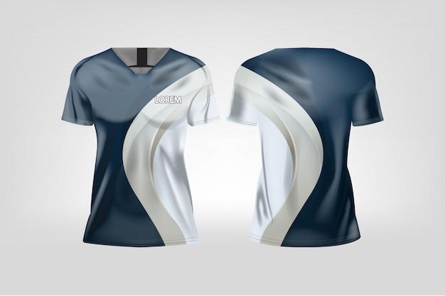 T-shirt sportiva da donna, maglia da calcio per club di calcio.