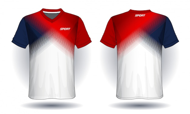 T-shirt sportiva in jersey di calcio.