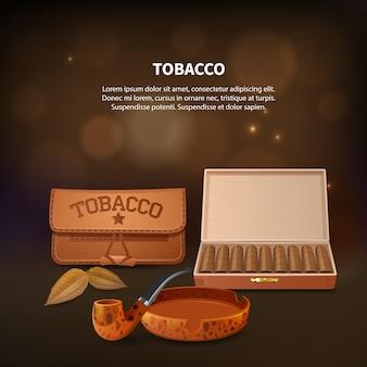 Tabacco composizione realistica