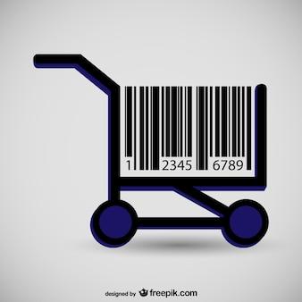 Tabella supermercato concetto di codice a barre