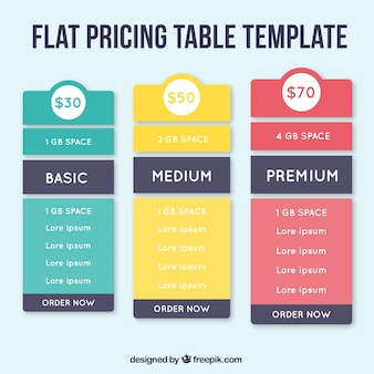 Tabelle di diversi piani