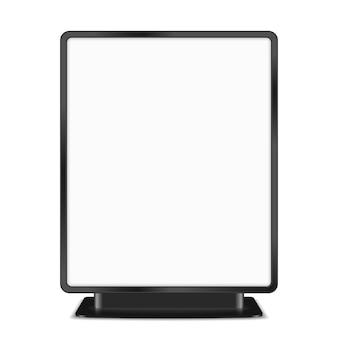 Tabellone per le affissioni nero su fondo bianco, illustrazione di vettore eps10