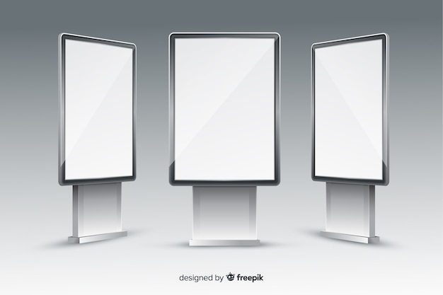 Tabellone per le affissioni realistico della scatola chiara