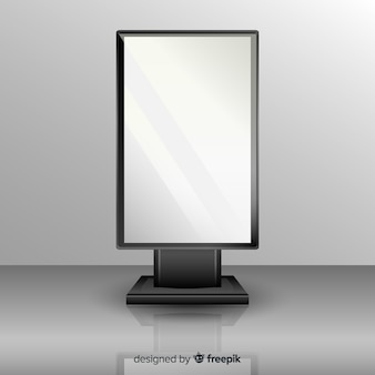 Tabellone pubblicitario scatola realistica