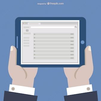 Tablet cartoon vector