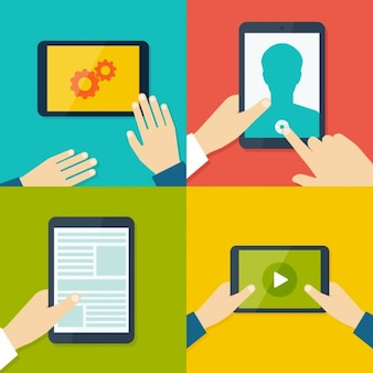 Tablet e applicazioni mobili di design