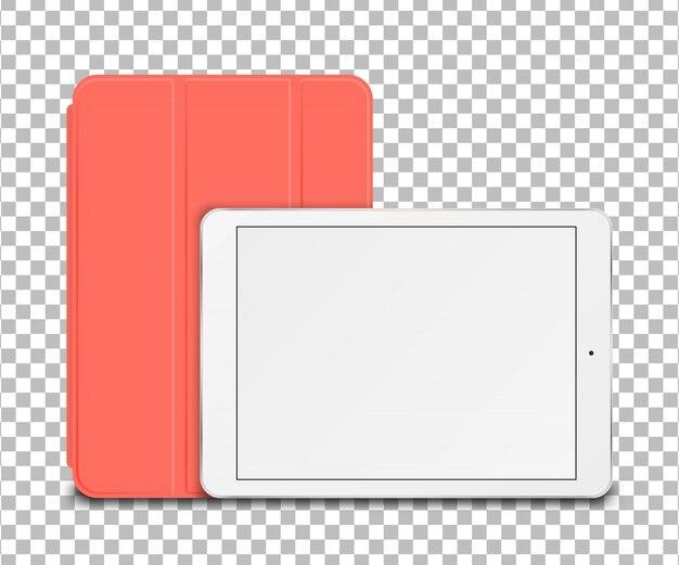 Tablet pc con cover intelligente.