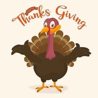 Tacchino del ringraziamento felice