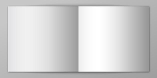 Taccuino vuoto isolato. mockup in bianco della rivista. illustrazione.