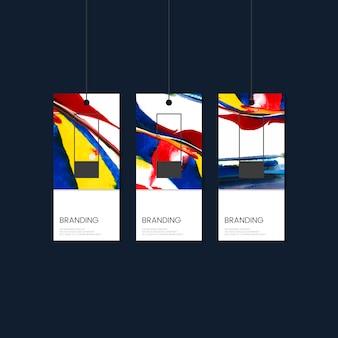 Tag branding con disegno vettoriale astratto