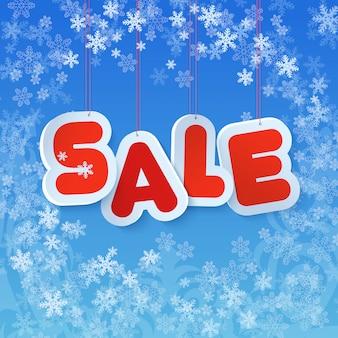 Tag di carta vendita inverno