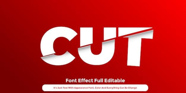 Tagli il disegno di stile grafico del testo della carta 3d