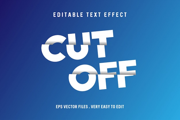 Tagliare - testo effetto vettoriale