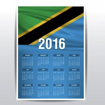 Tanzania il calendario del 2016