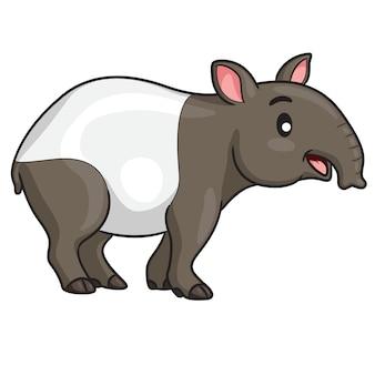 Tapiro simpatico cartone animato