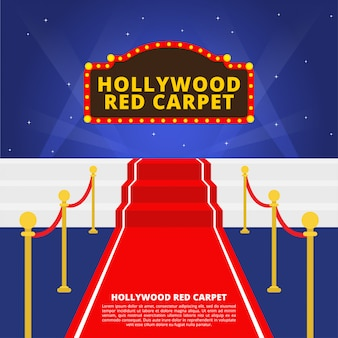 Tappeto rosso di hollywood vettoriale
