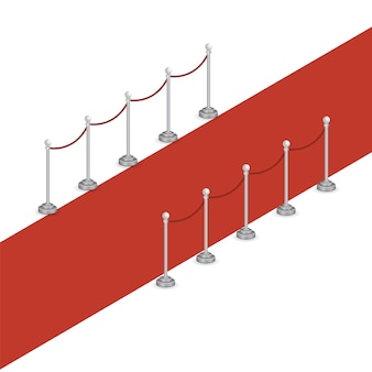 Tappeto rosso isometrico
