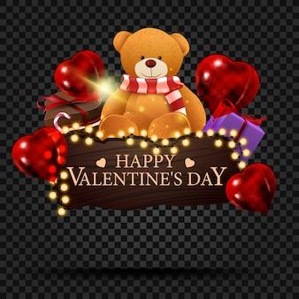 Targa in legno con congratulazioni per il giorno di san valentino