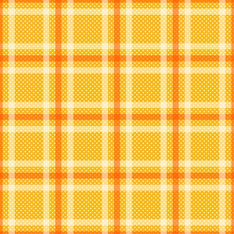Tartan giallo arancio con sfondo bianco a strisce