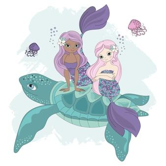 Tartaruga miramide animale tropicale dei cartoni animati