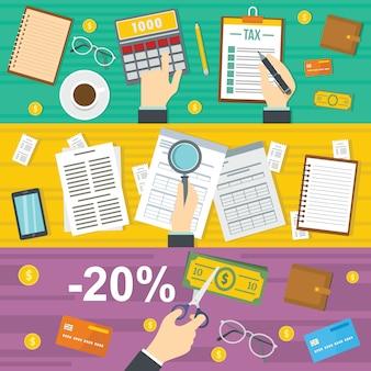 Tasse contabilità sfondo
