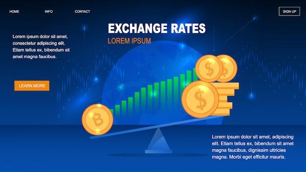 Tassi di cambio della criptovaluta per il portafoglio trader