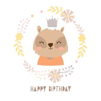 Tasso in un compleanno ghirlanda