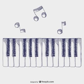 Tasti di pianoforte vettore