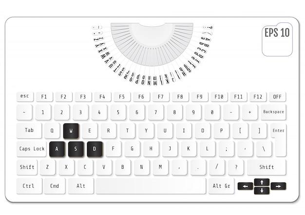 Tastiera del computer.