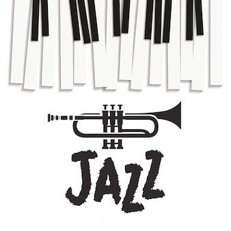 Tastiera di piano di modello di strumento musicale