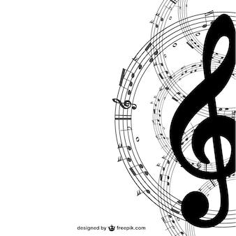 Tasto musica semplice sfondo vettoriale