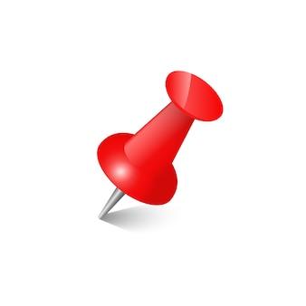 Tasto realistico del collegamento dell'ufficio di vettore stabilito rosso del perno dell'ufficio di spinta