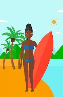 Tavola da surf surfista