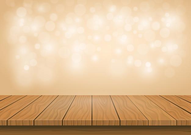 Tavola di legno superiore su sfondo trasparente