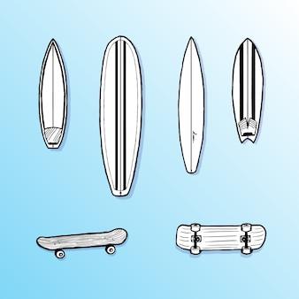 Tavole da surf e skateboard