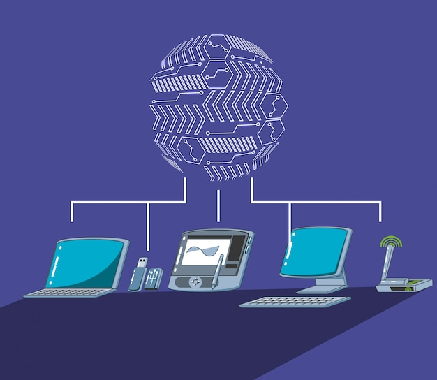 Tavoletta grafica con computer