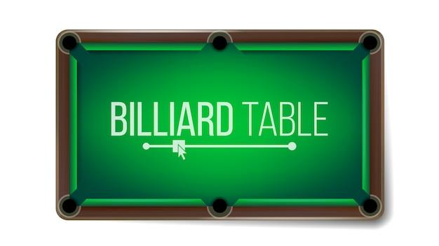 Tavolo da biliardo vuoto