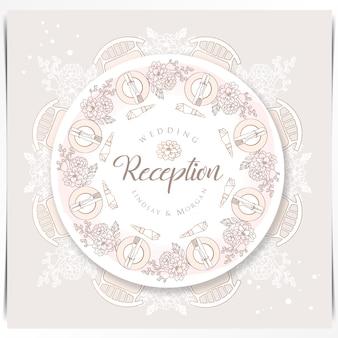 Tavolo da pranzo bellissimo evento matrimonio istituito con decorazione floreale