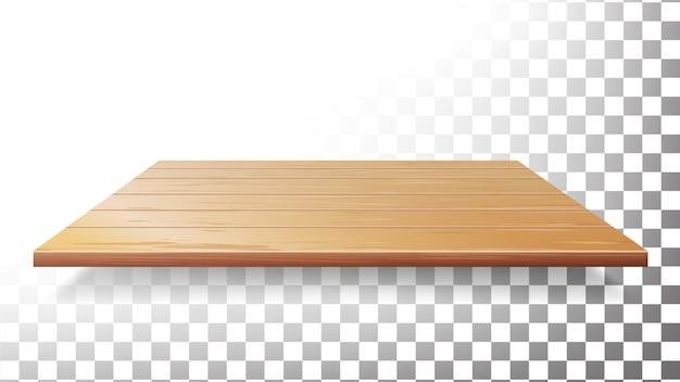 Tavolo in legno, piano, mensola a muro