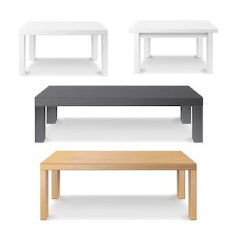 Tavolo quadrato vuoto in legno