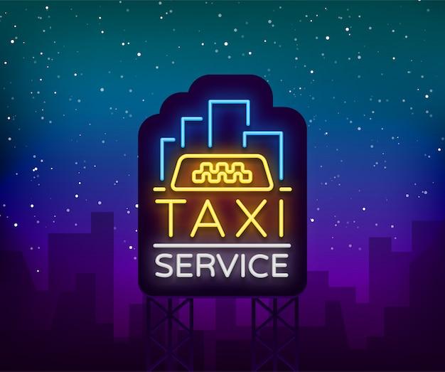Taxi sagoma distintivo incandescente.