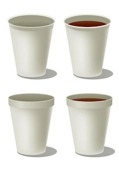 Tazza di caffè in polistirolo