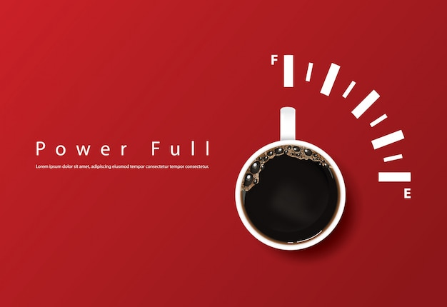 Tazza di caffè potente, modello