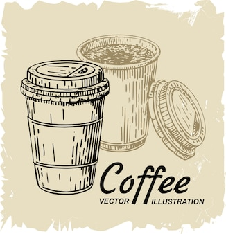 Tazza di caffè usa e getta
