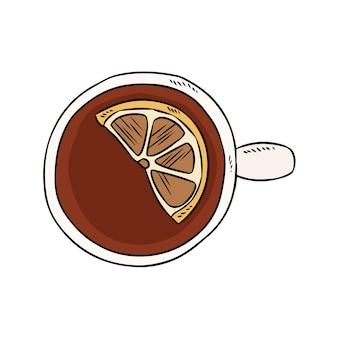 Tazza di tè al limone