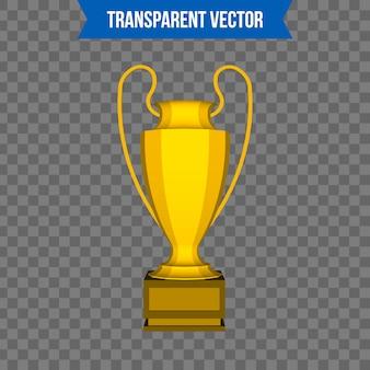 Tazza trofeo in stile 3d isometrico